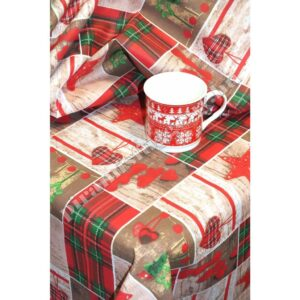 karácsonyi mintás anyag